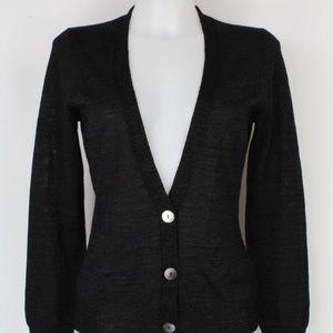Trina Turk Black Button Down Cardigan Size Medium
